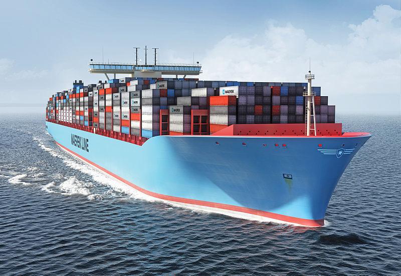 Buques portacontenedores el triple e maersk mc kinney moller va de barcos - Contenedores de barco ...