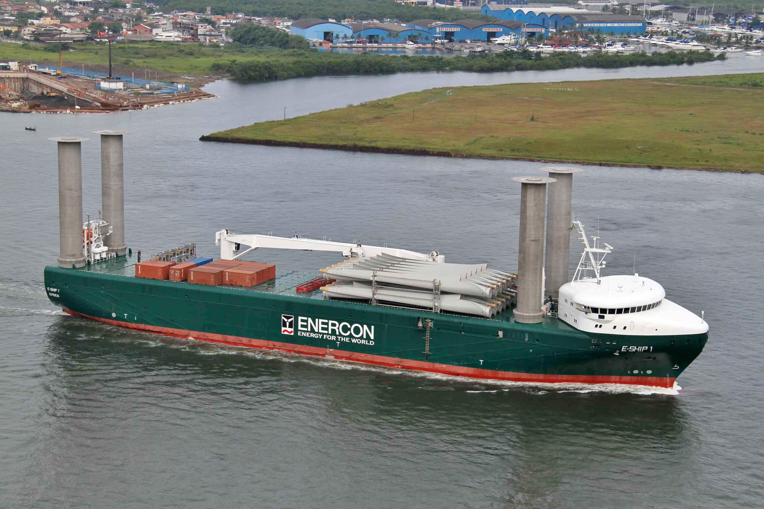 Buques De Rotores Flettner El E Ship 1 Va De Barcos