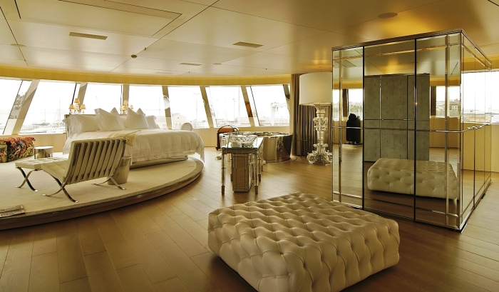 Yacht A interior - Owner Suite - Photography by Anja Wippich
