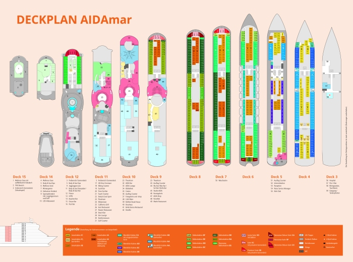 AIDAmar-Deckplan