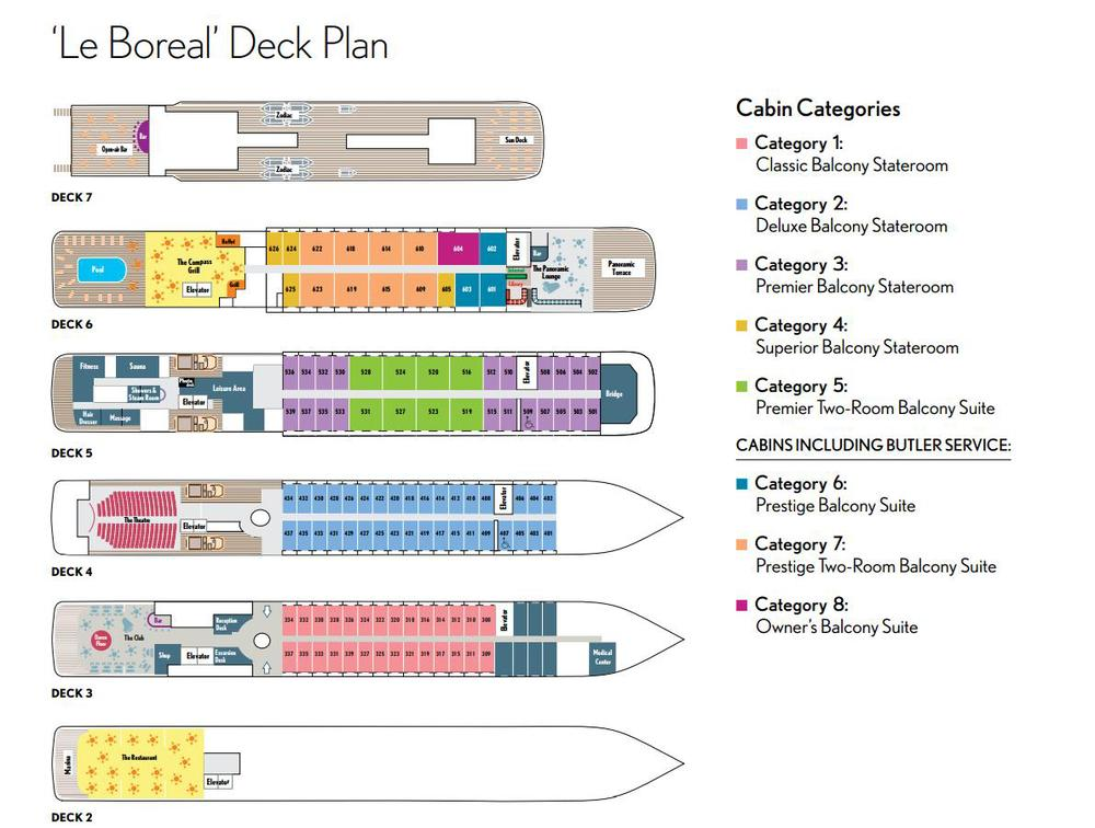 Image result for le boreal deck plans