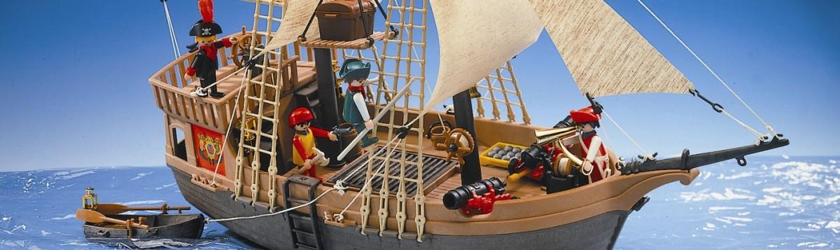 El barco pirata de Playmobil.