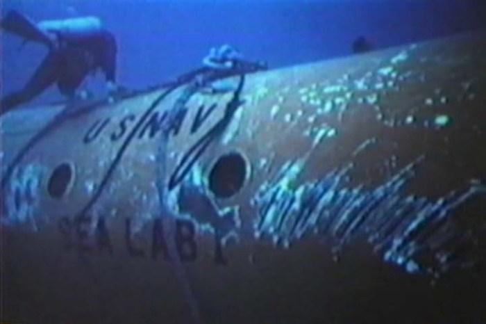 El SeaLab I en el fondo marino