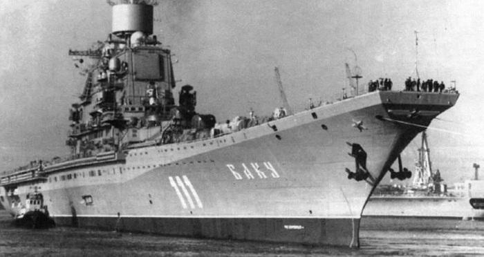 Imagen del Portaaviones Baku (antes Admiral Gorshkov)