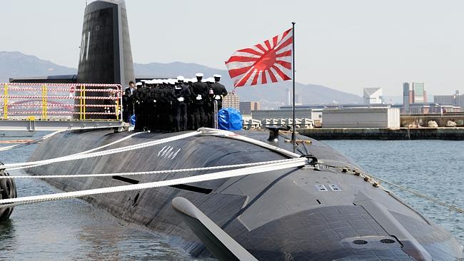 Submarino Soryu en puerto japones