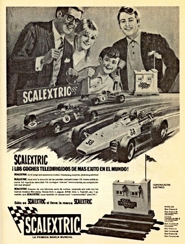 Cartel Scalextric navidades 1968