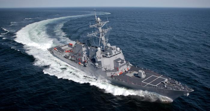 Destructor DDG-51 en navegacion