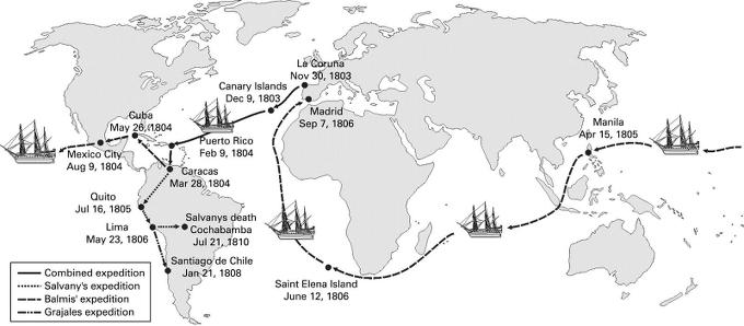 Resultado de imagen de mapa de la expedicion filantropica de la vacuna