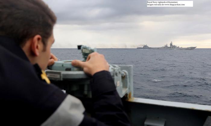 La marina britanica vigila al Kuznetsov