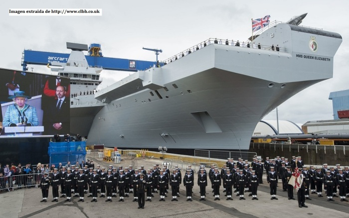 Ceremonia de flotadura del casco del buque