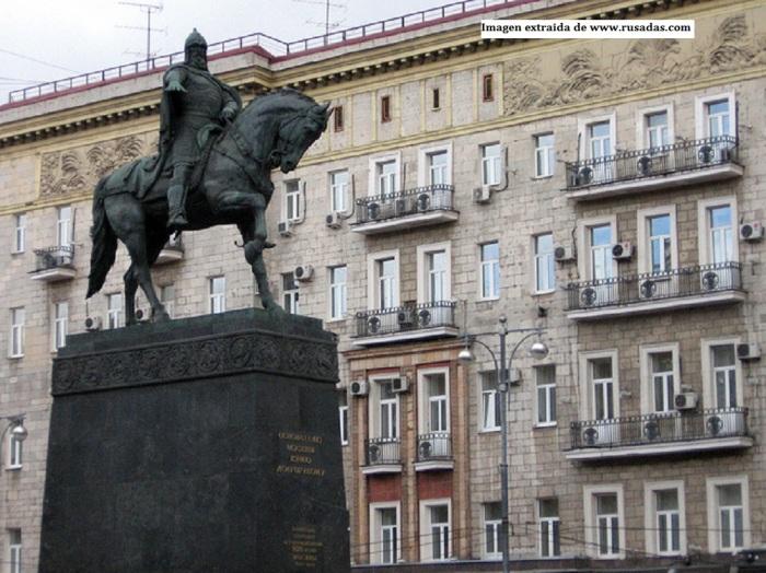 Imagen de la estatua de Yuri Dolgoruki en Moscu