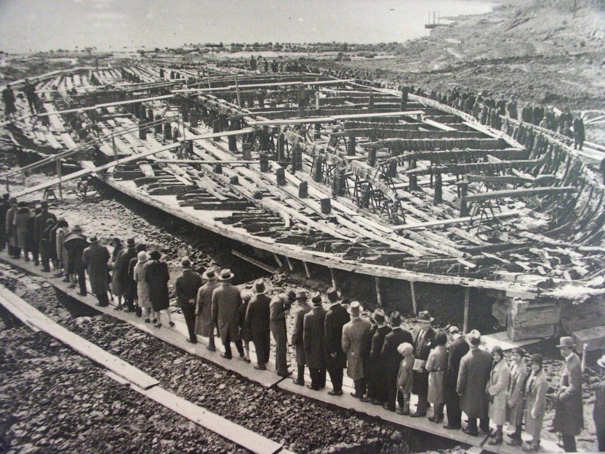 Los barcos romanos del lago Nemi.