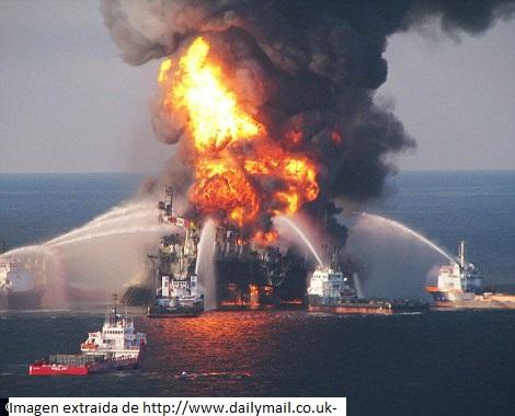 Imagen del accidente y los medios contra-incendios