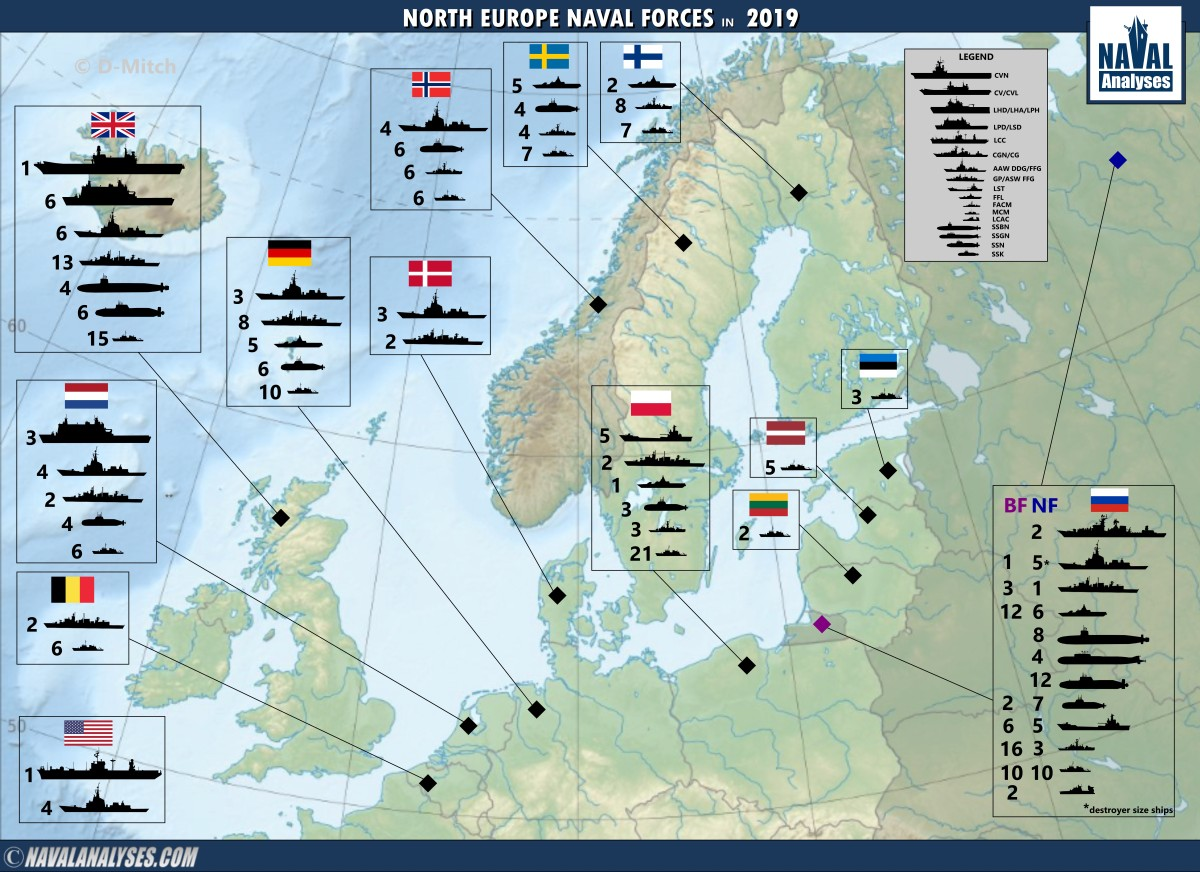Infografía: European Naval Forces in 2019
